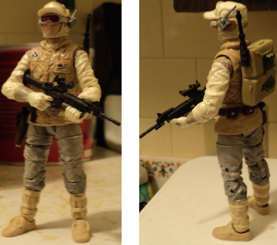 custom 6in Black series Hoth Trooper WIP by toyphototaker