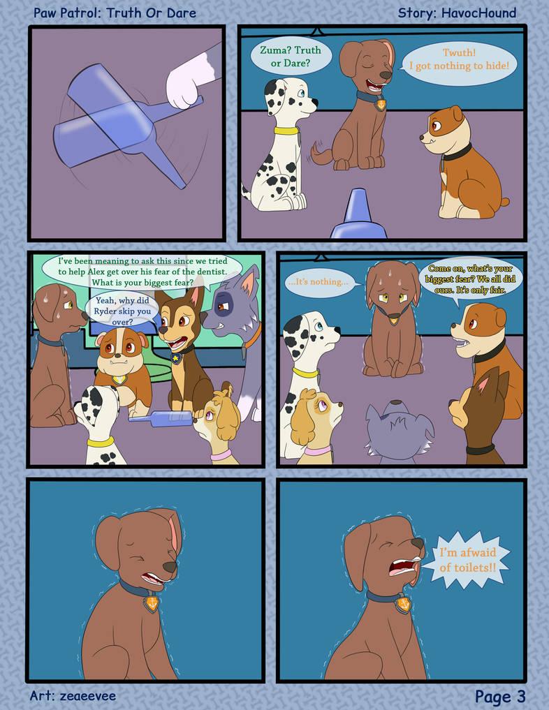 Paw Patrol Comic Truth Or Dare Pg 3 By Kreazea On Deviantart