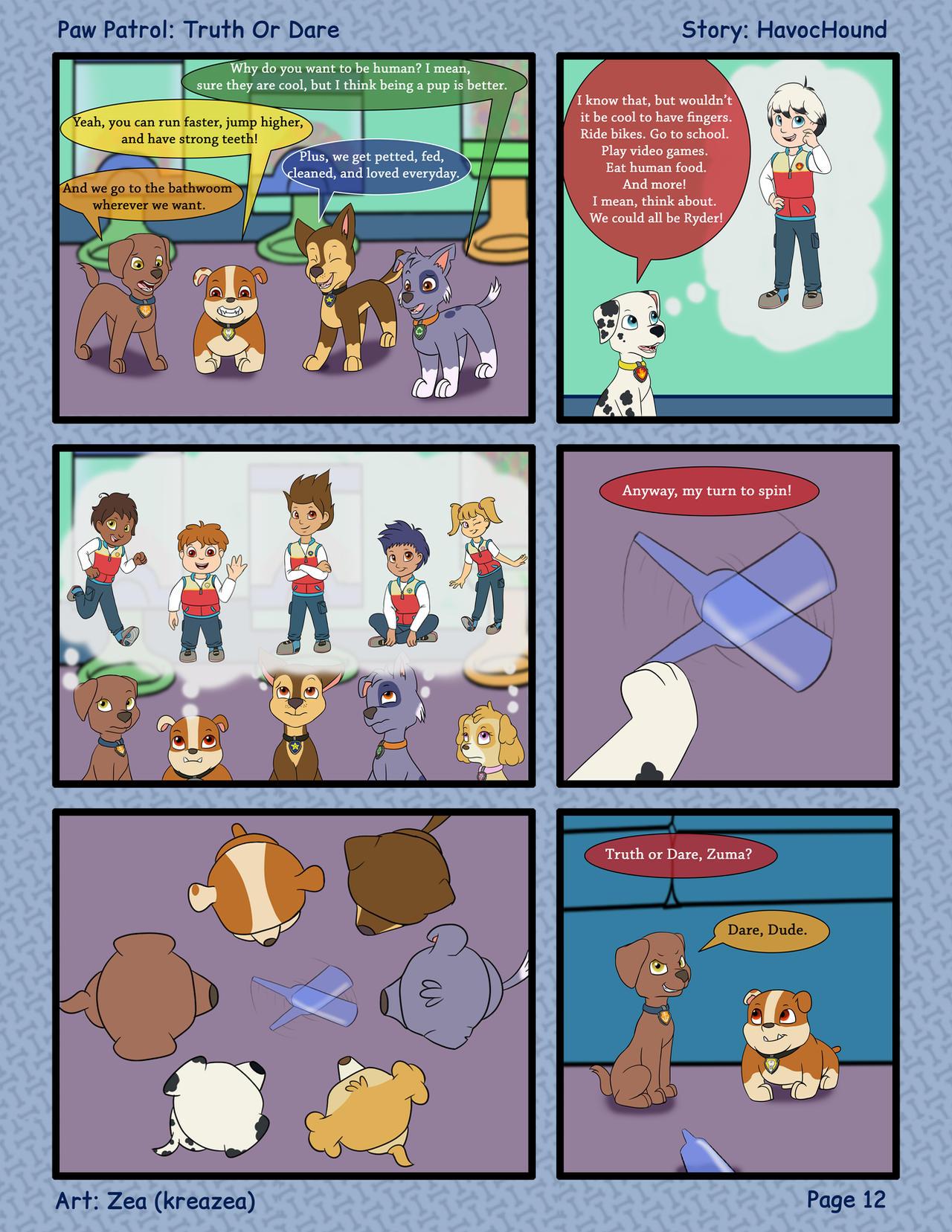 Paw Patrol Comic - Truth or Dare Pg 12 by kreazea on DeviantArt