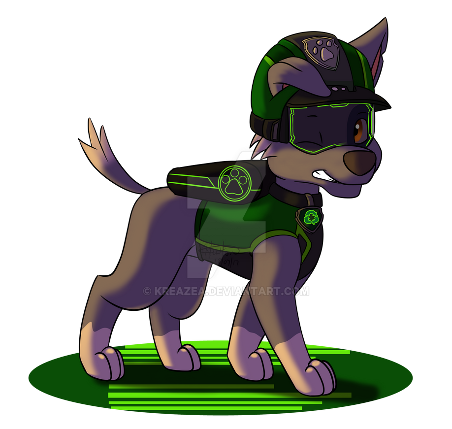 paw patrol mission paw rocky by kreazea on deviantart