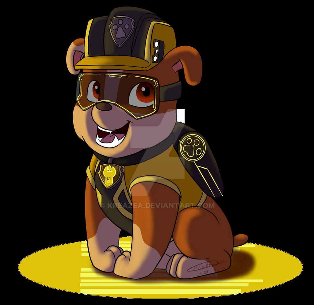 paw patrol 'mission paw'  rubblekreazea on deviantart