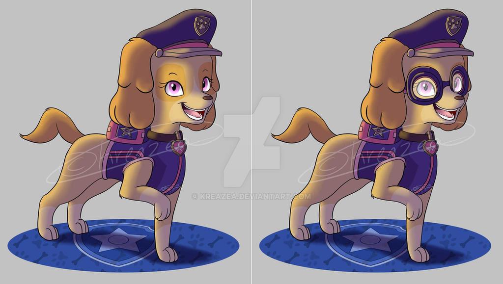 fdf41a2be44 Paw Patrol Ultimate Rescue Police Pup  Skye  by kreazea on DeviantArt