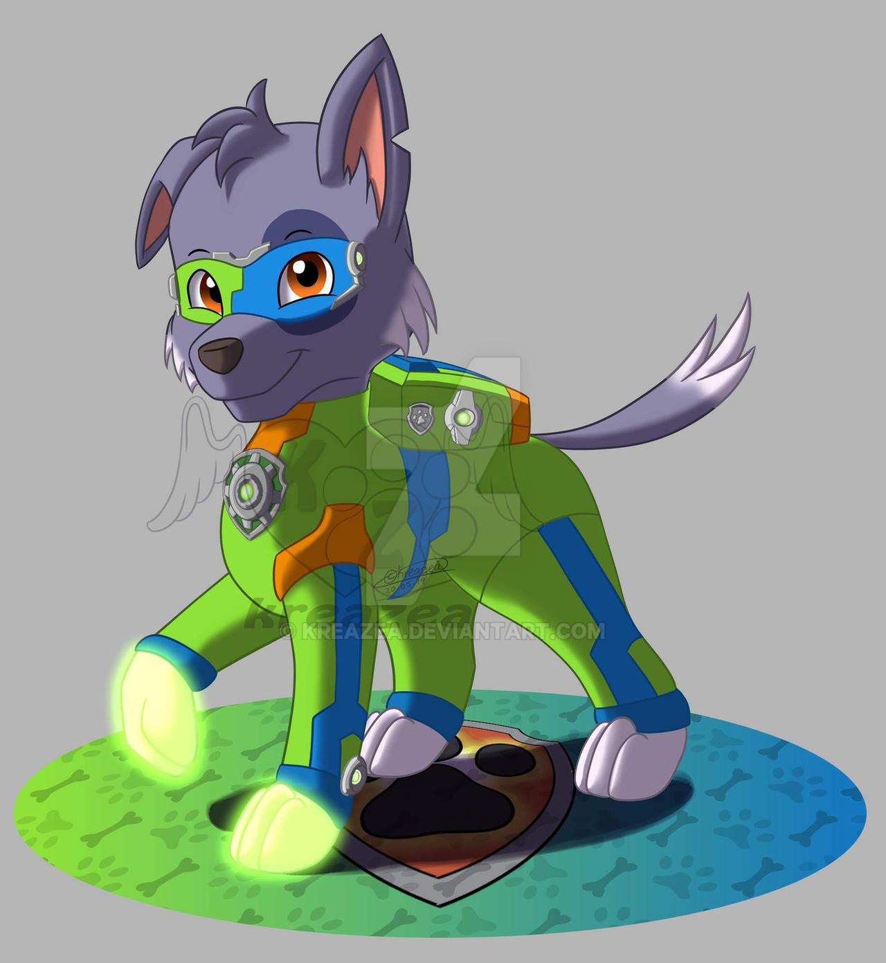 Mighty Pup Rocky By Kreazea On Deviantart