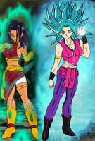 U6 Saiyan sisters by stayfrosty2401