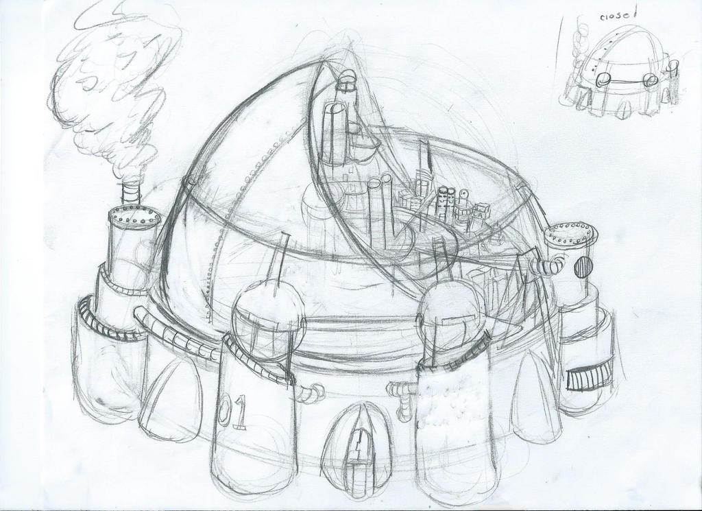 dome city concept by dr