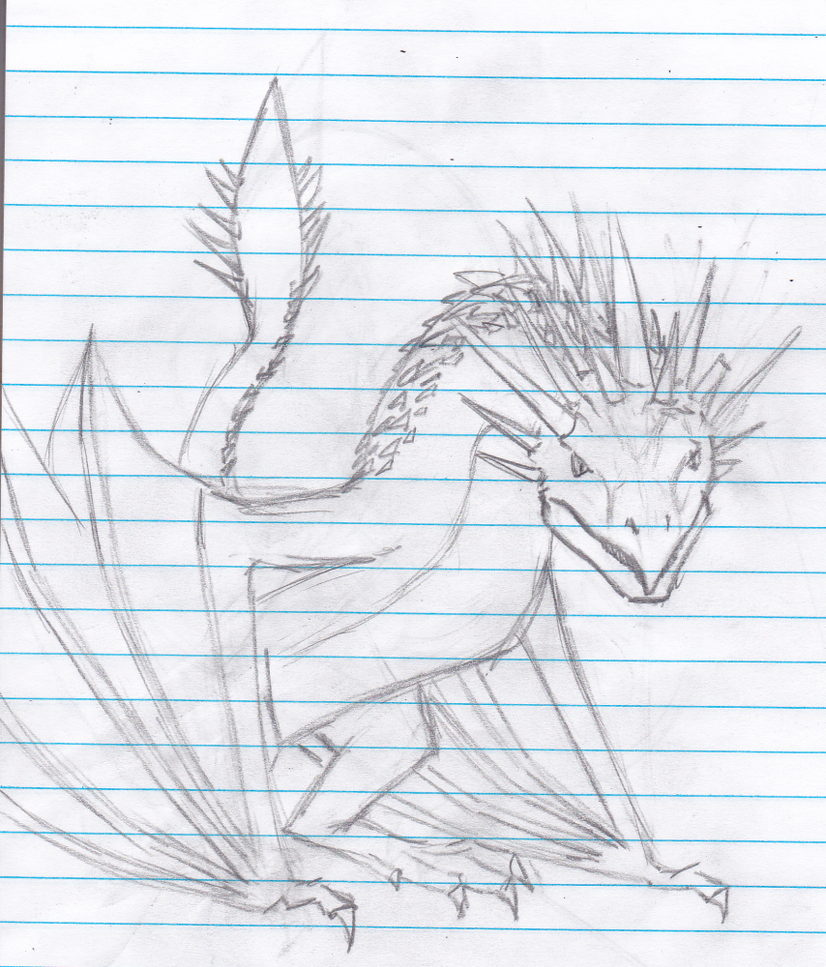 Hungarian horntail by goldenfanatic on deviantart