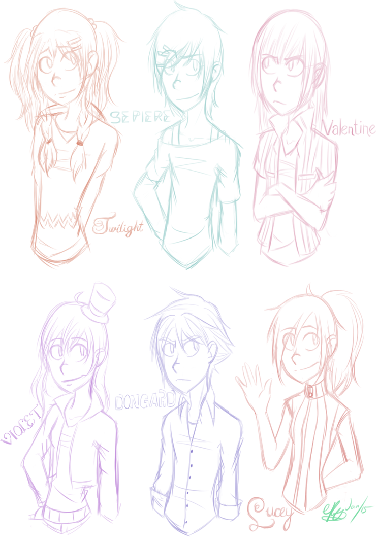 Sketch Page by elementalphoenixfox