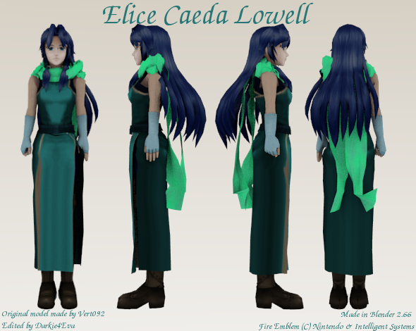 Blenderella Character Modeling In Blender 2 5 Download : Elice caeda lowell blender d model reference by