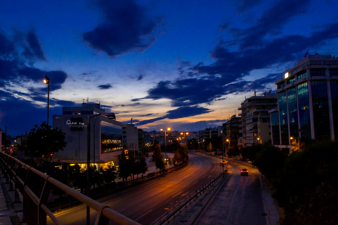 Beauty of urban night by ginavd