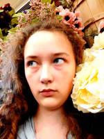 ran into flowers, ran away