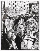 Ladies of Market Street print #1 by TCBaldwin
