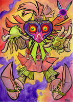 Skull Kid sketch card by TCBaldwin
