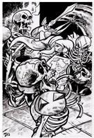 Link vs Stalfos sketch card by TCBaldwin
