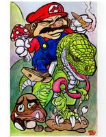Mario Sketch Card by TCBaldwin