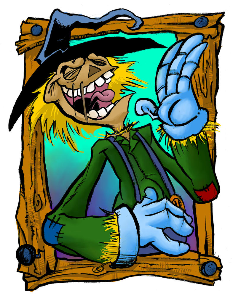 Scarecrow Laughing by TCBaldwin
