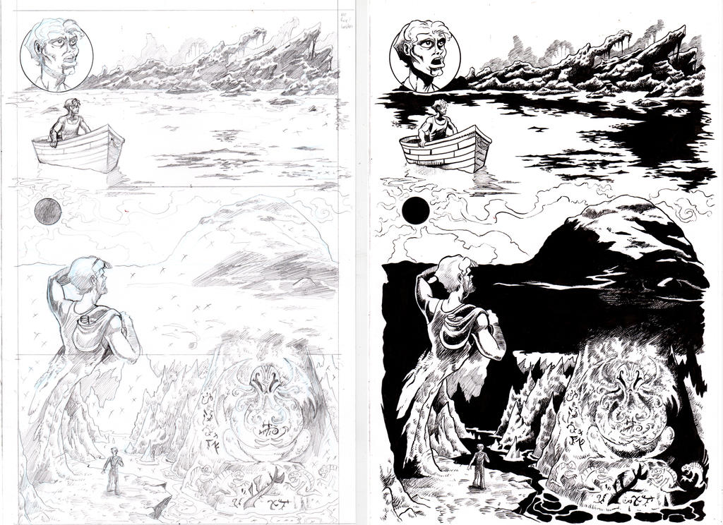 The Shadow Over Innsmouth Page 3 INKS by TCBaldwin