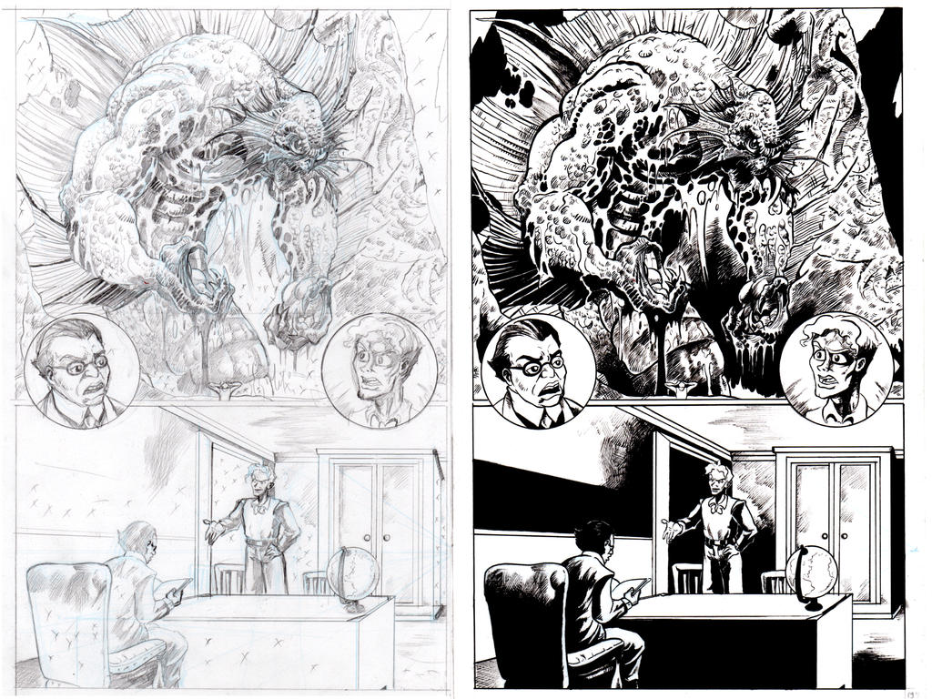 The Shadow Over Innsmouth Page 4 INKS by TCBaldwin