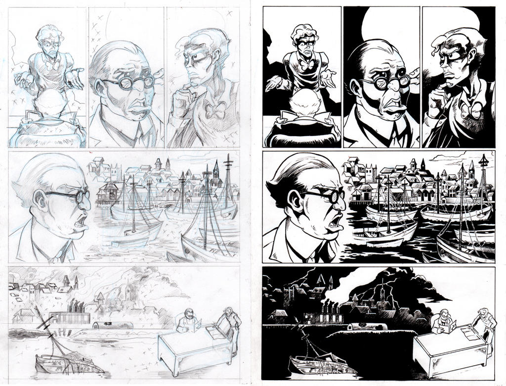 The Shadow Over Innsmouth Page 5 INKS by TCBaldwin
