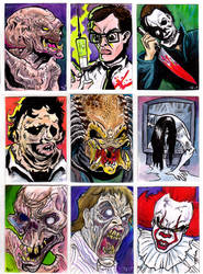 Horror Movie Sketch Cards by TCBaldwin