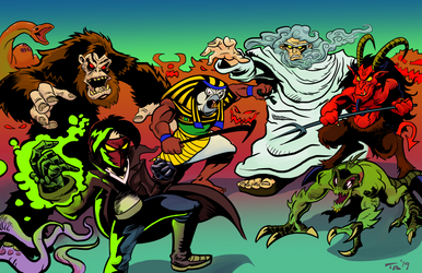 Godless Cranium battle scene by TCBaldwin