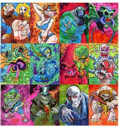 Spook Show Sketch Cards 1