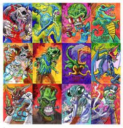 Spook Show Sketch Cards 2