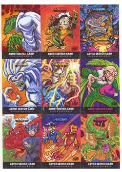 Upper Deck/ Marvel Anime Sketch Cards Page 1