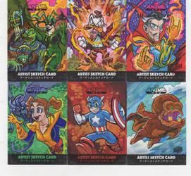 Upper Deck/ Marvel Anime Sketch Cards Page 4