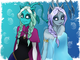 Isca and Caylis [Frozen] by TSCLonix