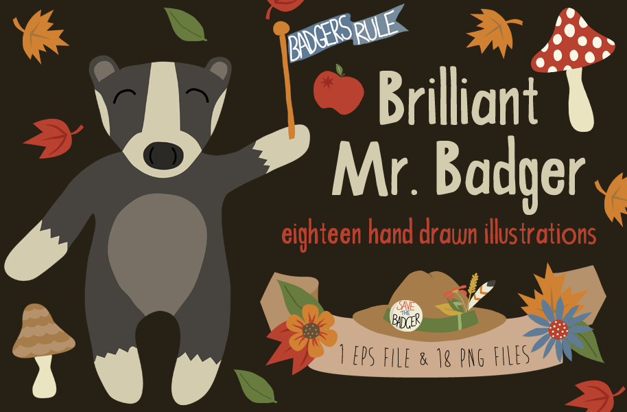 Brilliant Mr. Badger Illustrations by Bel0ved