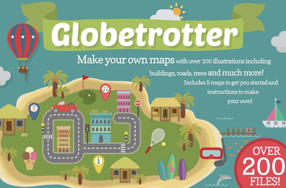 Globetrotter Map Illustrations by Bel0ved