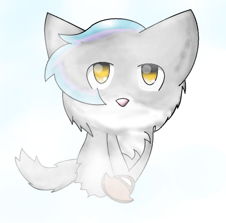 ghost kitty thing XD by monkiesonunicyclesXD