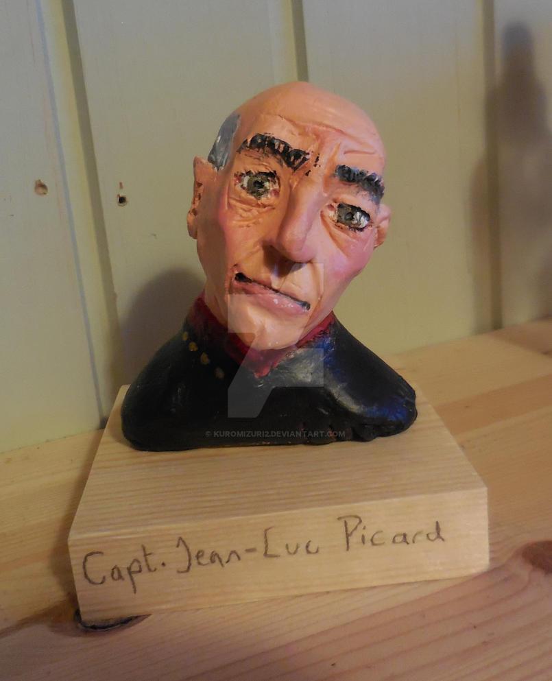 Jean-Luc Picard Bust by Kuromizuri2
