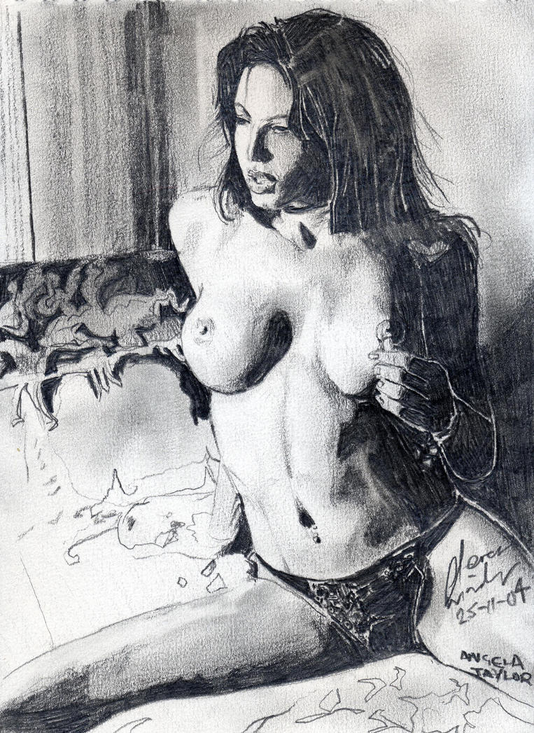 Angela Taylor drawing by stevenwinda