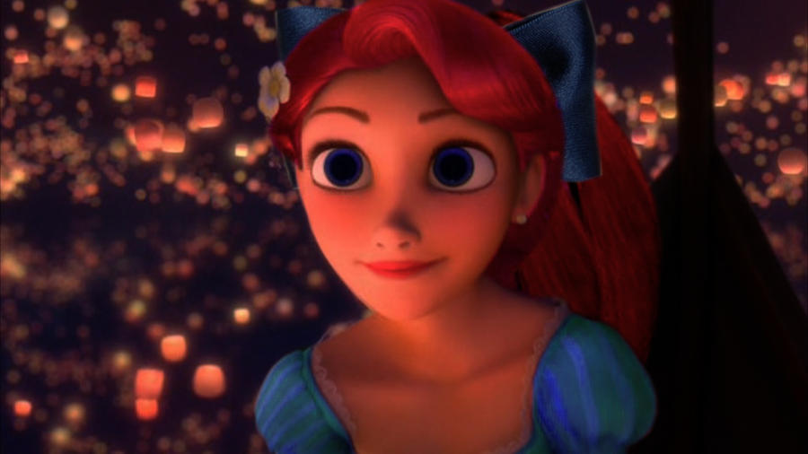 Rapunzel as Ariel by ArielPartOfYourWorld