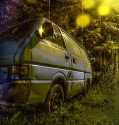Old Van in Street Lamp Light by Zds0