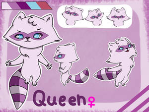 Queen the Raccon reference [Commission]