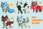NAME YOUR PRICE! (4/5 open) Adoptables - Batch #17 by LuckyInkz