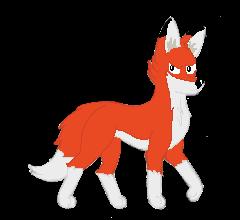 fox, Pixel art by Simonreinoso