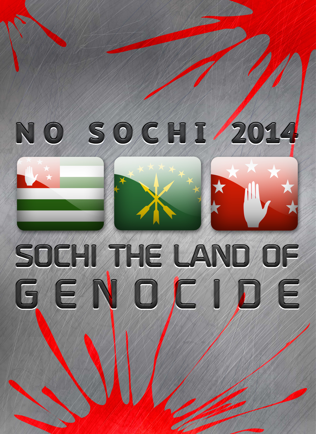 NO SOCHI 2014 - SOCHI THE LAND OF GENOCIDE by amirdjigit