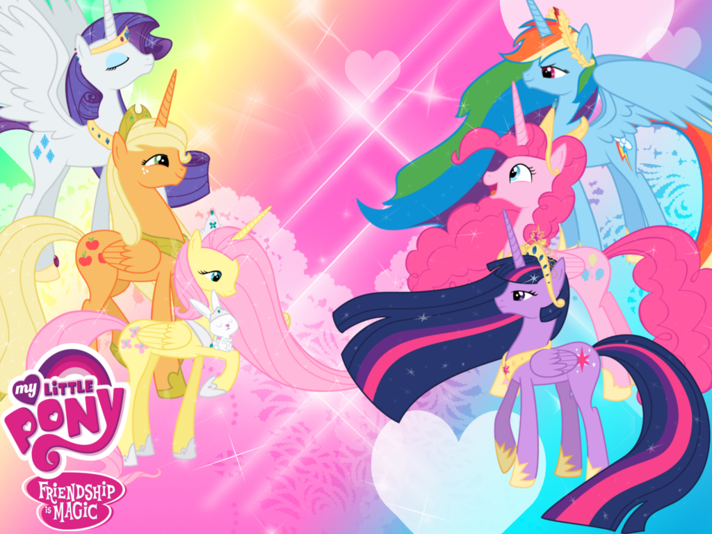 my little pony princess wallpaper by invader zil