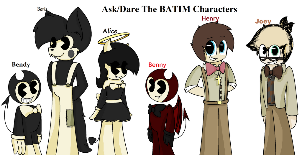 Ask/Dare the BATIM Characters by SpeedyCat1234