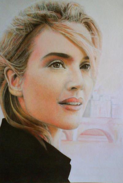 Kate Winslet drawing by Atrapado