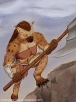Gnoll Warrior by HoldXtoRevive