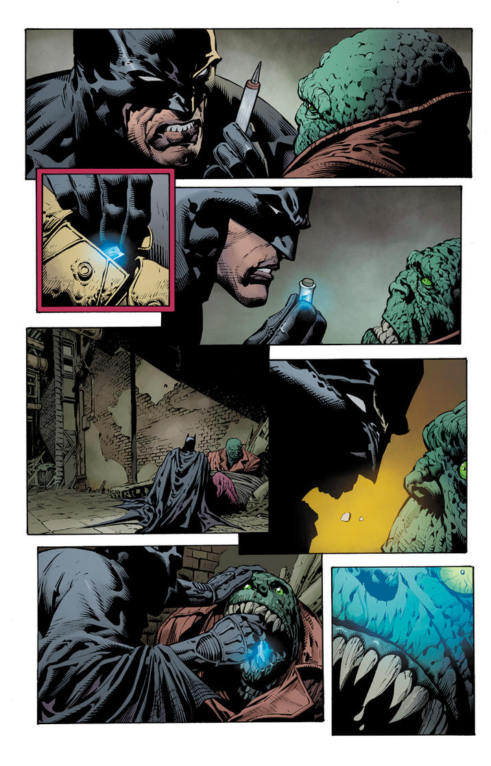 Dark Knight page by JoshJ81
