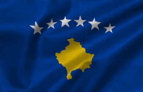 Kosova Realistic Flag by artti-ad