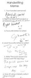 Handwriting Meme by Akastuki-sensei