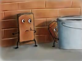 Frightened bricks. Just a joke ))