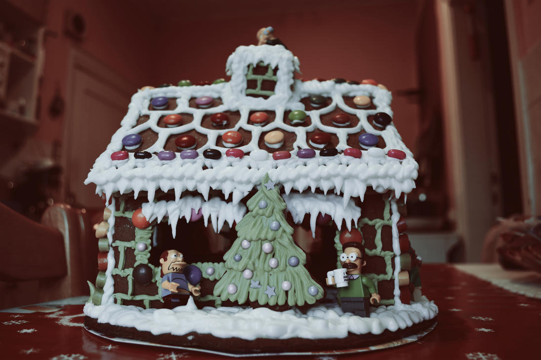 Simpsons Gingerbread house by teezkut