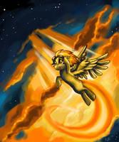 Spitfire in the Sky by DymasyaSilver